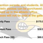 Passes not sold at gate notice